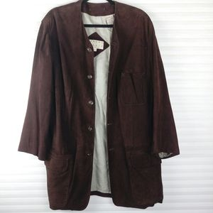 Joseph Abboud VTG Suede Leather Brown Jacket